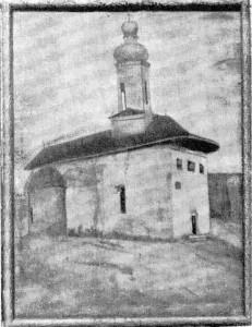 """Biserica """"Peatra"""" – Pictură în ulei pe pânză. Sfr. Sec. al XIX-lea"""