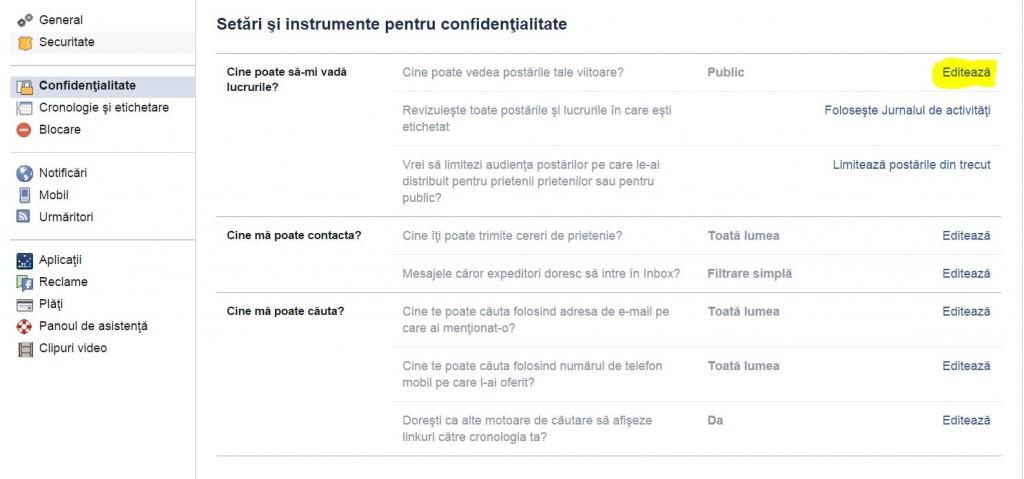 facebook confidentialitate 2
